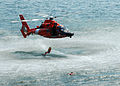 US Navy 090729-N-4649C-002 A U.S. Coast Guard search and rescue team perform a search and rescue demonstration for the people of Seattle after a parade of ships.jpg