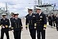 US Navy 101001-N-8273J-152 Vice Adm. Russ Crane, Chief of Navy of the Royal Australian Navy, center, and Chief of Naval Operations (CNO) Adm. Gary.jpg