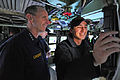 US Navy 120127-N-WL435-029 Chief of Naval Operations (CNO) Adm. Jonathan Greenert meets the crew and tours the spaces of the Virginia-class attack.jpg