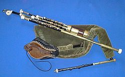 A full set of Uilleann pipes.
