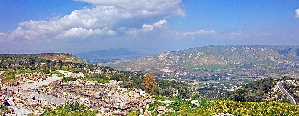 Umm Qais Galilee-Golan panorama