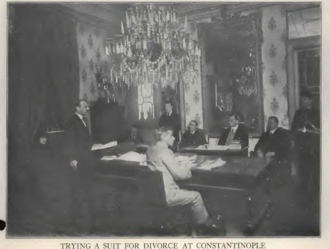 Consular court - Trying a divorce suit in the United States Consular Court at Constantinople, 1922