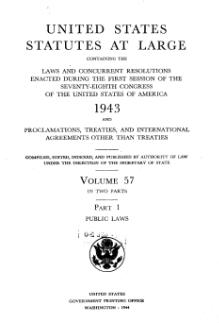 United States Statutes at Large Volume 57 Part 1.djvu