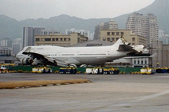 China Airlines Flight 605 - B-165 at Kai Tak Airport some days after the accident