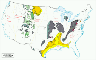 Geologic province - US coal regions and provinces.