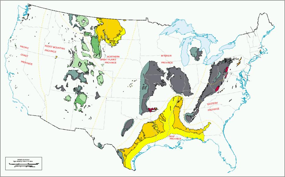 Us coal regions 1996