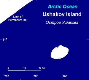 Ushakov Island - Ushakov island is practically covered with ice and snow the whole year round. Xd