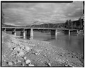 VIEW LOOKING SOUTHEAST, 3-4 ELEVATION - Dry Channel Bridge, Spanning Clark Fork, Thompson Falls, Sanders County, MT HAER MONT,45-THOFA,1-1.tif