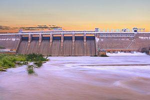 Vaigai Dam - Image: Vaiga dam full view