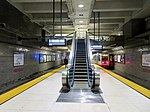 Van Ness station with new escalator, March 2019.JPG