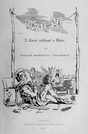 English: First edition title page of Vanity Fair