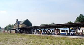Magdeburg–Thale railway - Quedlinburg station with transfer to HSB