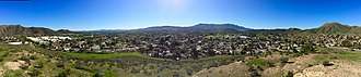Conejo Valley - Panorama of Conejo Valley from Rabbit Hill, Newbury Park.