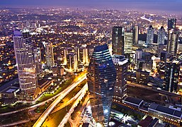 View of Levent financial district from Istanbul Sapphire.jpg