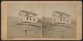 View of a house that has been lifted off its foundation, by William Allderige 2.png