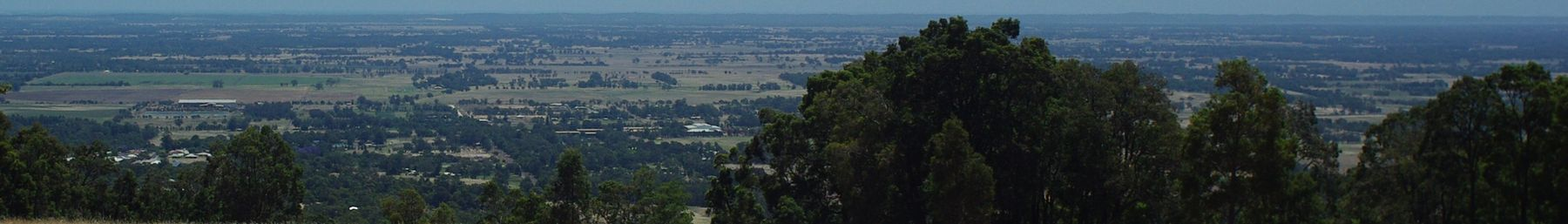 View over Waroona from the Darling scarp