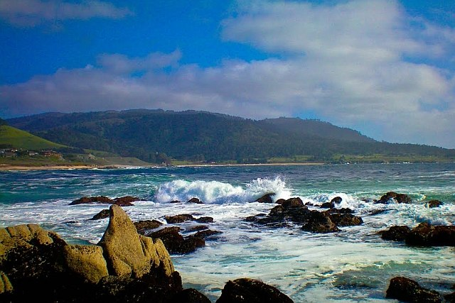 View south from Carmel River Beach
