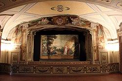 Villa di poggio, teatrino settecentesco, 01.JPG