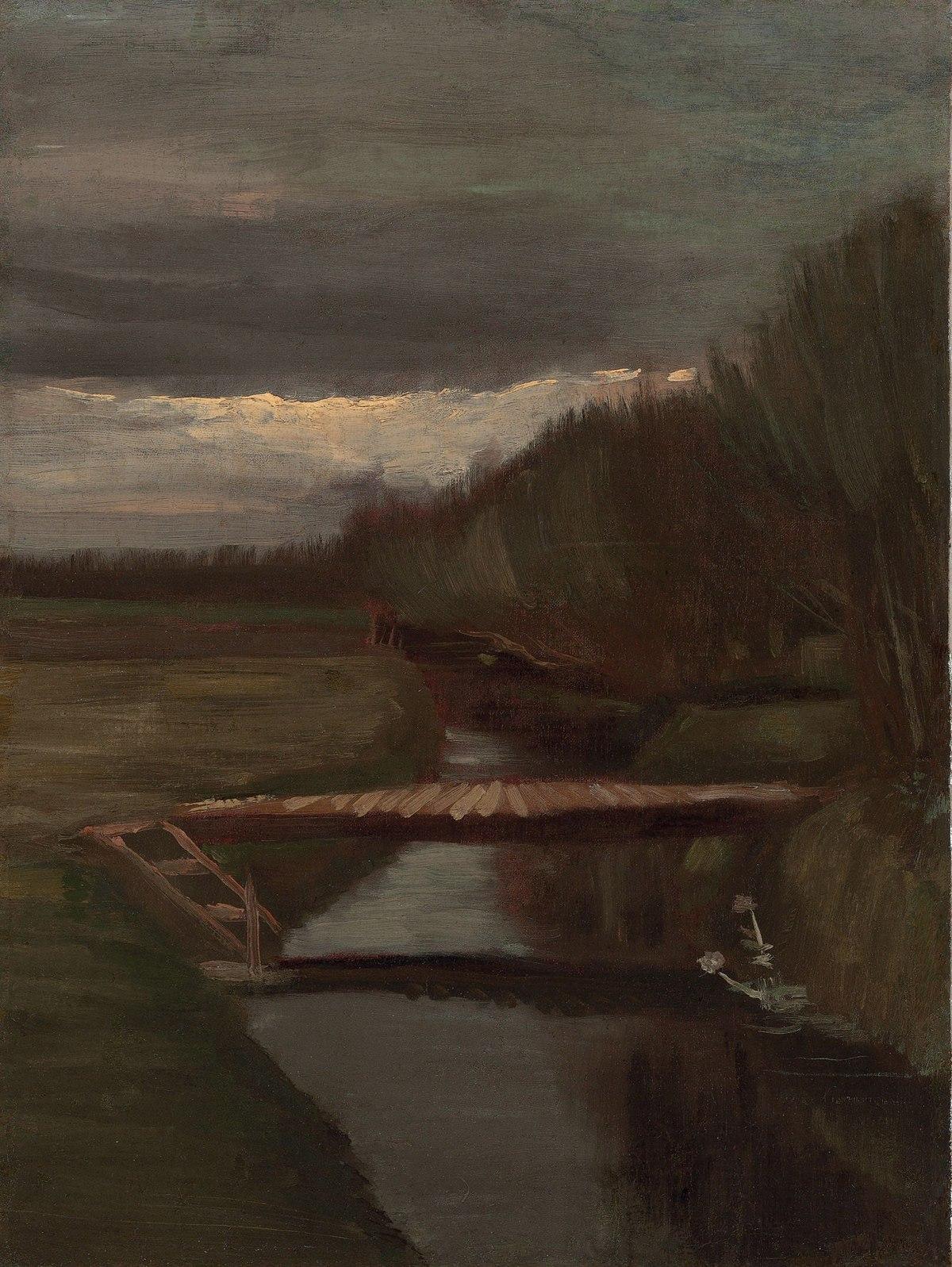 Dateivincent Van Gogh Sloot En Kleine Brugjpg Wikipedia