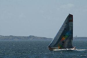 Telefónica Blue - Sanya Lan during the 2011–12 Volvo Ocean Race.