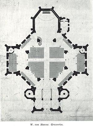 Trinity Church (Oslo) - Wilhelm von Hannos combined octagonal-cruciform floorplan.