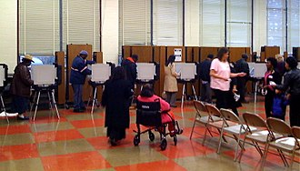 2008 United States presidential election in Maryland - Voting taking place at a Maryland polling station