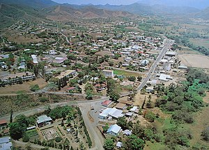 Bourail - An aerial view of the centre of Bourail