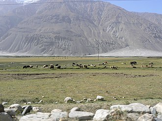 Wakhan - Wakhan between Afghanistan and Tajikistan