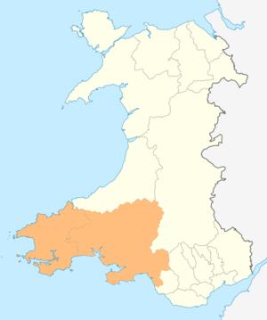 Swansea Bay City Region - Image: Wales Swansea Bay City Region locator map