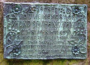 Edmund Seyfang Taylor - Walker Miles' memorial plaque