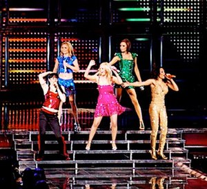 "Wannabe - The Spice Girls performing ""Wannabe"" at the Air Canada Centre in Toronto, Canada, during the Return of the Spice Girls tour"
