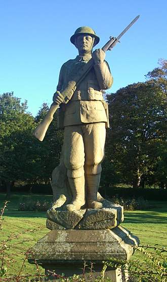 Gleadless - The war memorial on Hollinsend Road.
