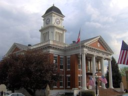 Washington County Courthouse i Jonesborough.