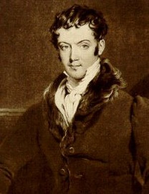 The Sketch Book of Geoffrey Crayon, Gent. - Washington Irving in 1820, by Gilbert Stuart Newton
