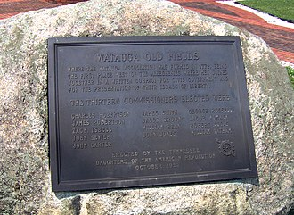 Watauga Association - DAR monument in Elizabethton, Tennessee, recalling the establishment of the Watauga Association