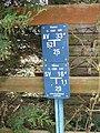 Water company valve sign, near Watford - geograph.org.uk - 118278.jpg