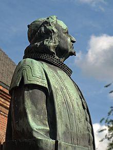 Johann-Rist-Denkmal in Wedel (Quelle: Wikimedia)