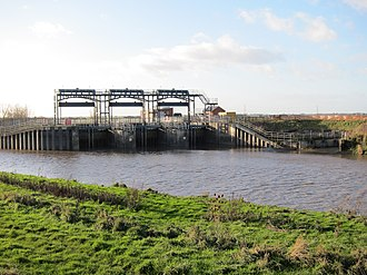 New Bedford River - The outlet of Welmore Lake Sluice into the New Bedford River