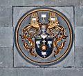 Werl, denkmalgeschützte Propsteikirche, Wappen auf dem Erbsälzeraltar.JPG