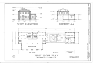File maps and south elevation macdill air force base for Guard house design layout