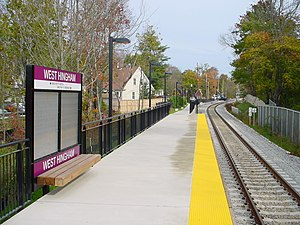 West Hingham station platform, 2007.jpg