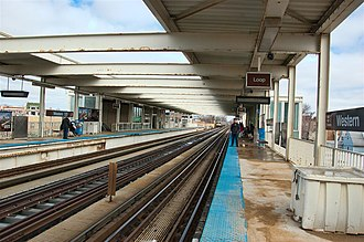 Western station (CTA Brown Line) - Image: Western station