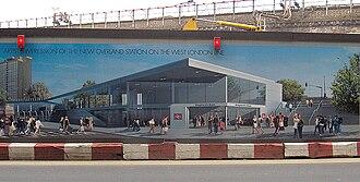 White City, London - Proposals for Shepherd's Bush railway station; now open.