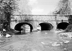 Reed Township, Dauphin County, Pennsylvania - Former canal aqueduct over Powell Creek