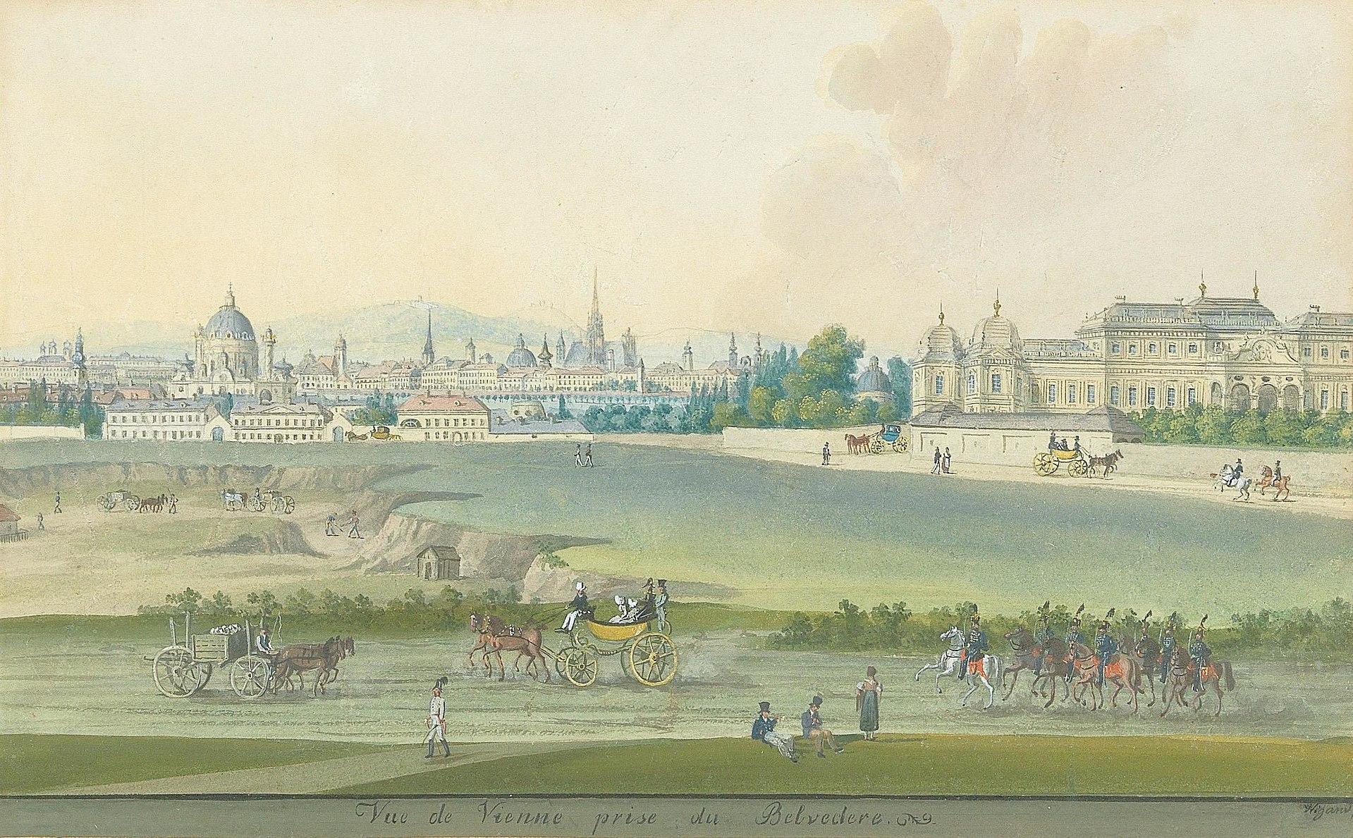 Wigand–Vue de Vienne prise du Belvedere.jpg