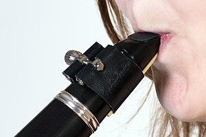 Embouchure - Clarinet embouchure.