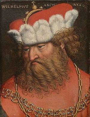 William, Duke of Austria - Historic portrait by Anton Boys (about 1580)