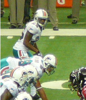 Will Allen (cornerback) - Will Allen and Jason Taylor line up against the Atlanta Falcons.