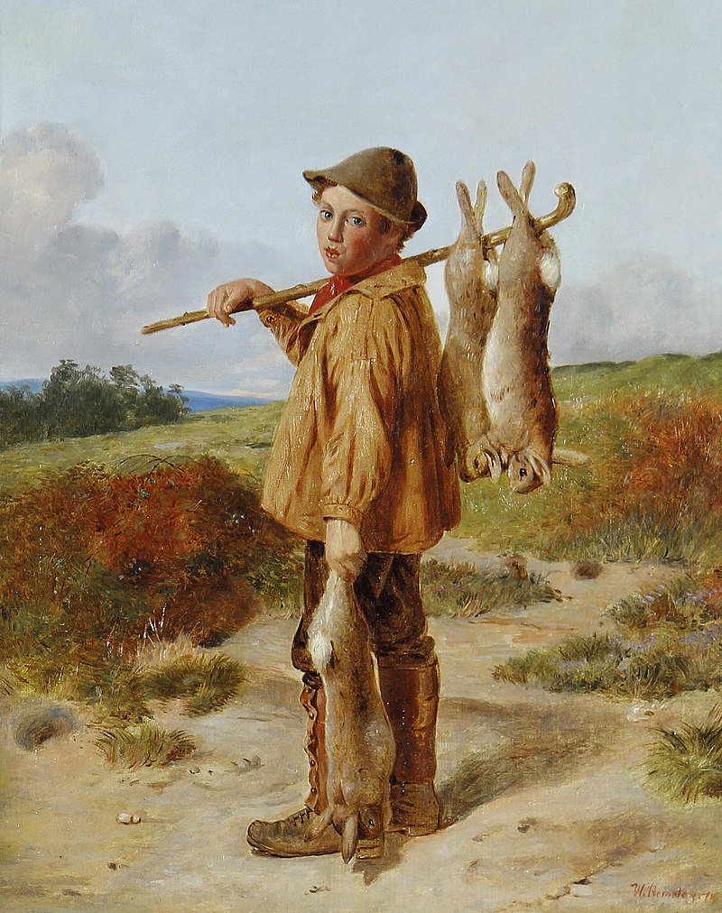 800px-William_Hemsley_The_young_poacher_