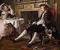 William hogarth, marriage a-la-mode, 1743 ca., 02 il tete-à-tete 7.jpg